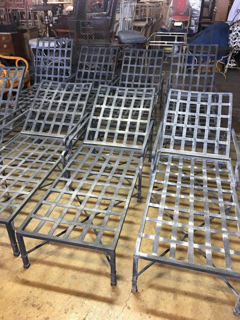 Pair of Brown Jordan Venetian Aluminum Chaise Lounges For Sale 2