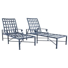 Pair of Brown Jordan Venetian Aluminum Chaise Lounges