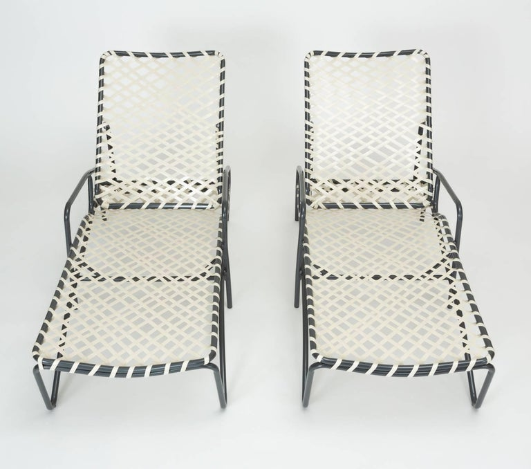 Pair Of Brown Jordan Tamiami Adjustable Patio Chaise Lounges At