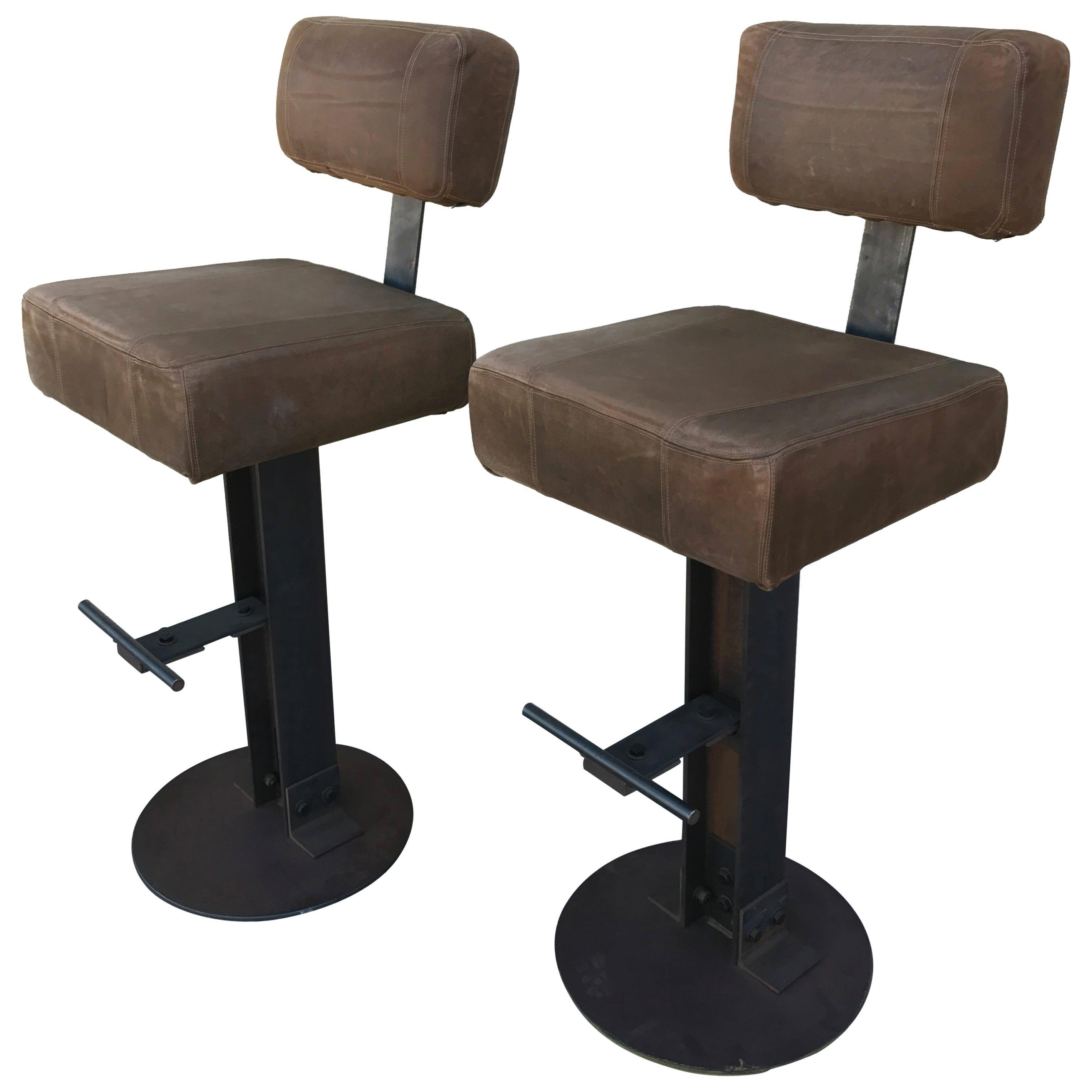 Pleasing Industrial Bar Stools 118 For Sale On 1Stdibs Ibusinesslaw Wood Chair Design Ideas Ibusinesslaworg