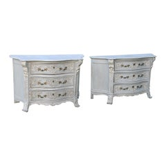 Pair of Bruges Painted Commodes