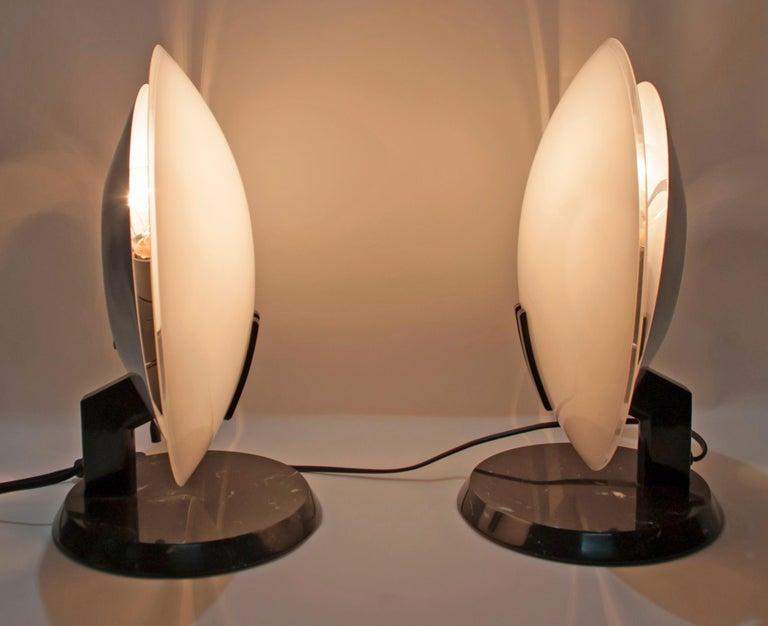 Modern Pair of Bruno Gecchelin Italian Table Lamps