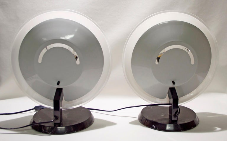 Late 20th Century Pair of Bruno Gecchelin Italian Table Lamps