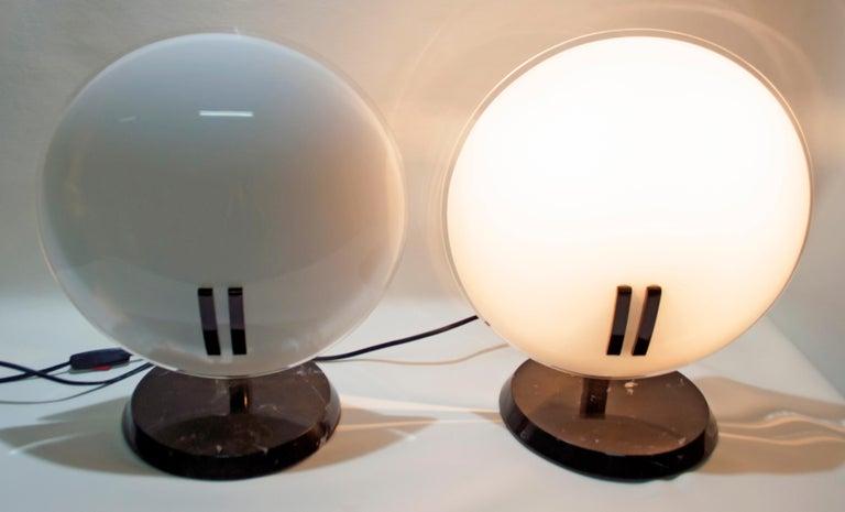 Pair of Bruno Gecchelin Italian Table Lamps