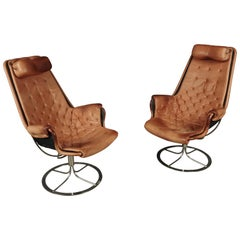 Pair of Bruno Mathsson Jetson Lounge Chairs, from Sweden, circa 1980