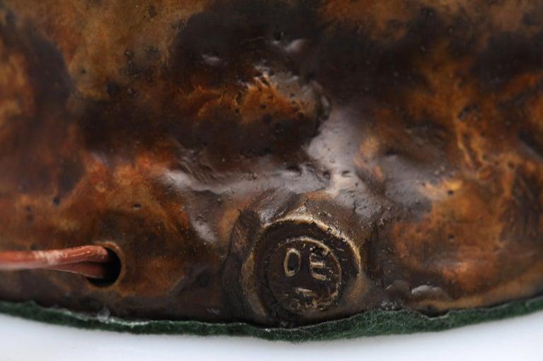 Vintage Pair of Brutalist Bronze Sculptural Table Lamps For Sale 6
