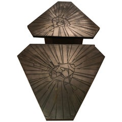 Pair of Brutalist End Tables