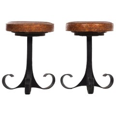 Pair of Brutalist Stools