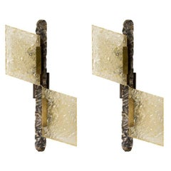 Pair of Brutalist Style Sconces