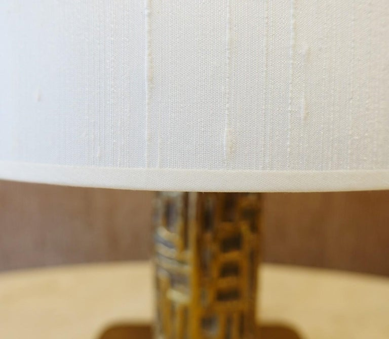 Pair of Brutalist Table Lamps Luciano Frigerio for Frigerio, Italy, 1970s In Good Condition For Sale In Brussels, BE