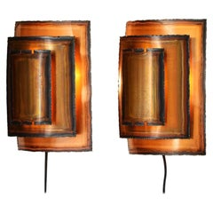 Pair of Brutalist Wall Lights