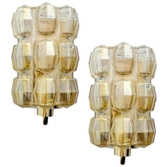 Pair of Bubble Glass Sconces by Helena Tynell for Glashütte Limburg