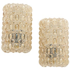 Pair of Bubble Glass Sconces by Limburg