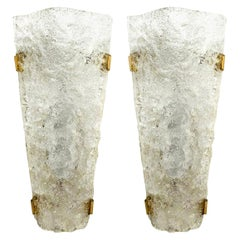 Pair of Bubble Murano Glass Sconces or Wall Sconces, 1960s