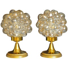 Pair of Bubble Table Lamps by Helena Tynell for Limburg, circa 1960s