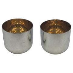 Pair of Buccellati Gilt Sterling Silver Cups