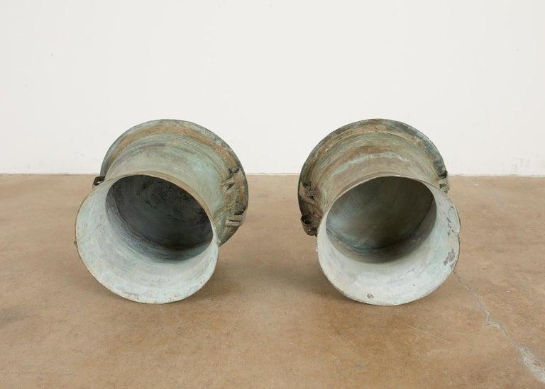 Pair of Burmese Bronze Rain Drum Drink Tables For Sale 9