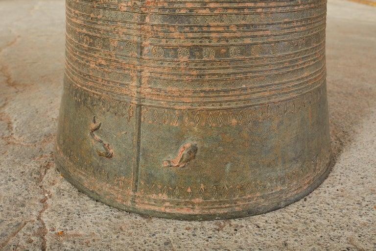 Pair of Burmese Bronze Rain Drums or Frog Drum Tables For Sale 4