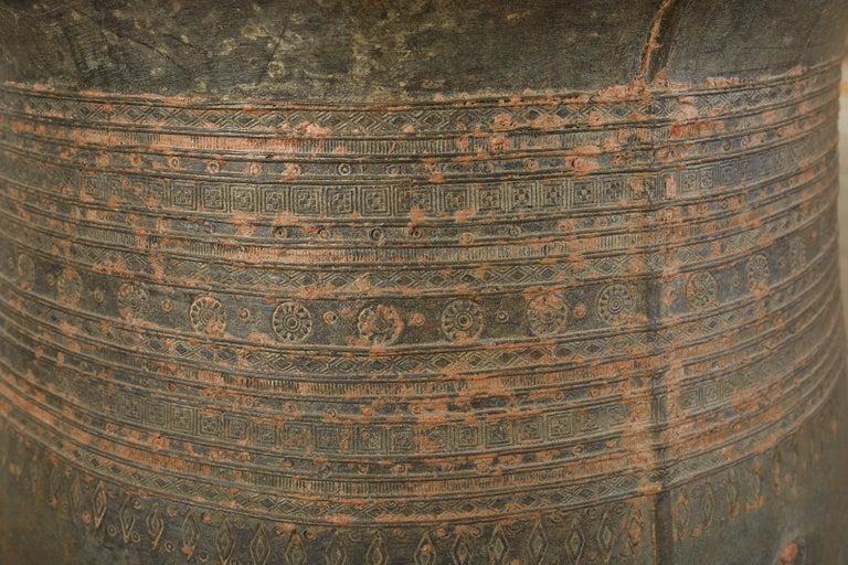Pair of Burmese Bronze Rain Drums or Frog Drum Tables For Sale 7
