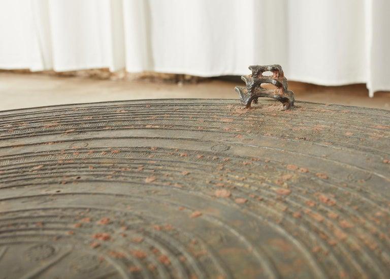 Pair of Burmese Bronze Rain Drums or Frog Drum Tables For Sale 13