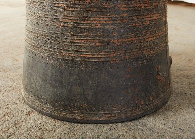 Pair of Burmese Bronze Rain Drums or Frog Drum Tables For Sale 2