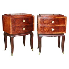 Pair of Burr Elmwood End Tables