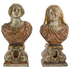 Pair of Bust-Reliquary by Anonymous Italian School, 18th-19th Century
