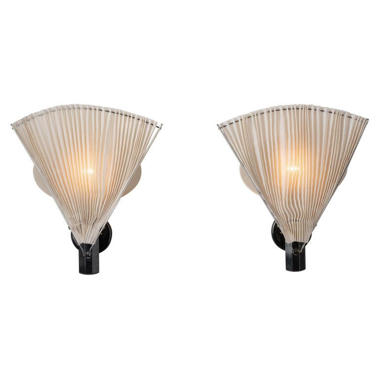 """Pair of """"Butterfly"""" Sconces by Afra and Tobia Scarpa for Flos For Sale"""