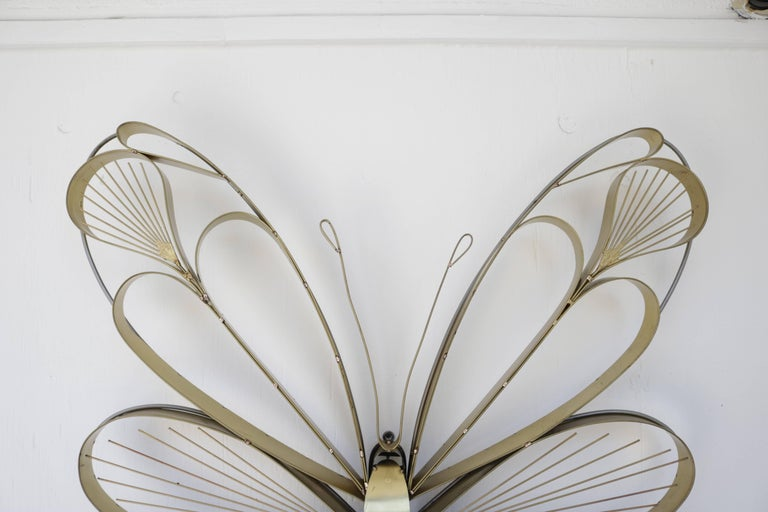 Mid-Century Modern Pair of Butterfly Sculptures by Curtis Jere For Sale