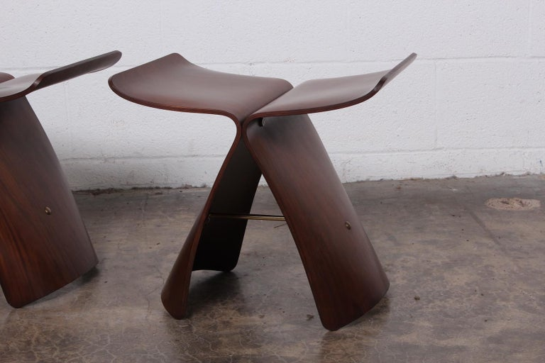 Pair of Butterfly Stools by Sori Yanagi In Good Condition In Dallas, TX