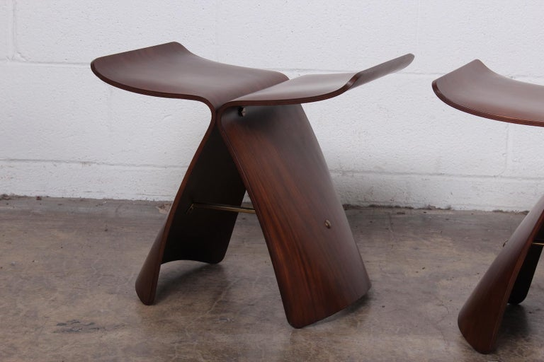 Late 20th Century Pair of Butterfly Stools by Sori Yanagi