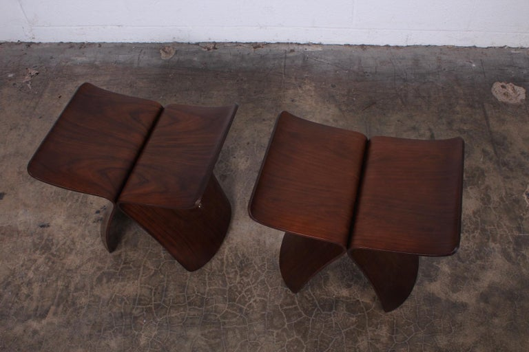 Rosewood Pair of Butterfly Stools by Sori Yanagi