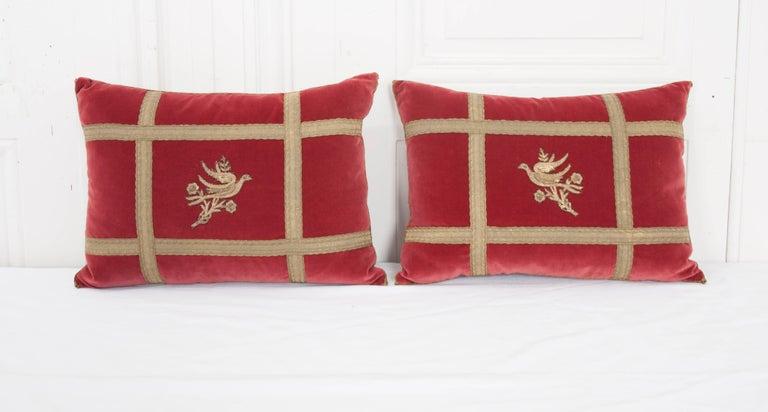 Turkish Pair of B.Viz Design Antique Textile Pillows For Sale