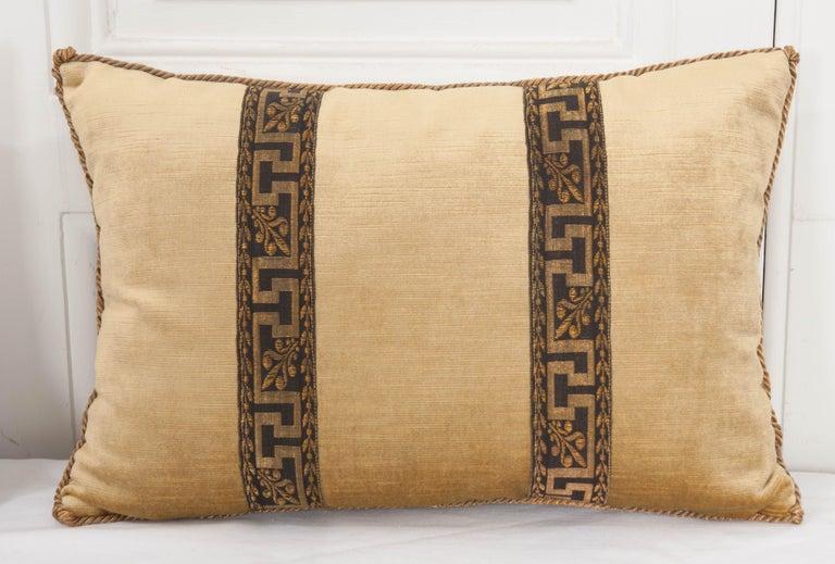 French Pair of B.Viz Design Antique Textile Pillows For Sale