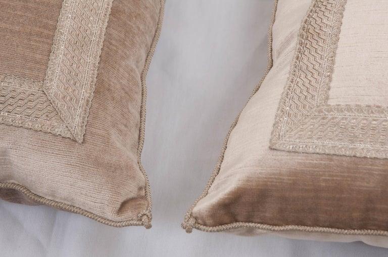 Cord Pair of B. Viz Design Antique Textile Pillows For Sale