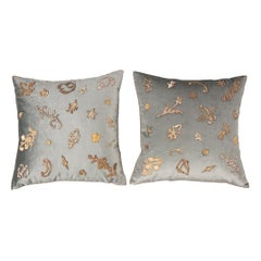 Pair of B.Viz Design Textile Pillows