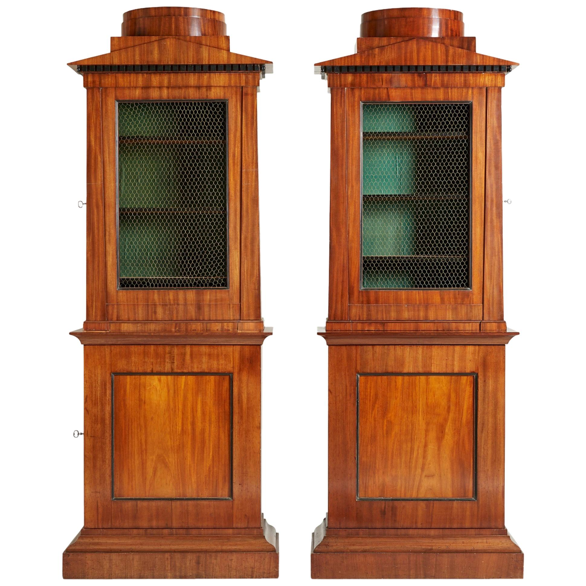 Pair of Cabinets/Book Cases, Empire, circa 1810