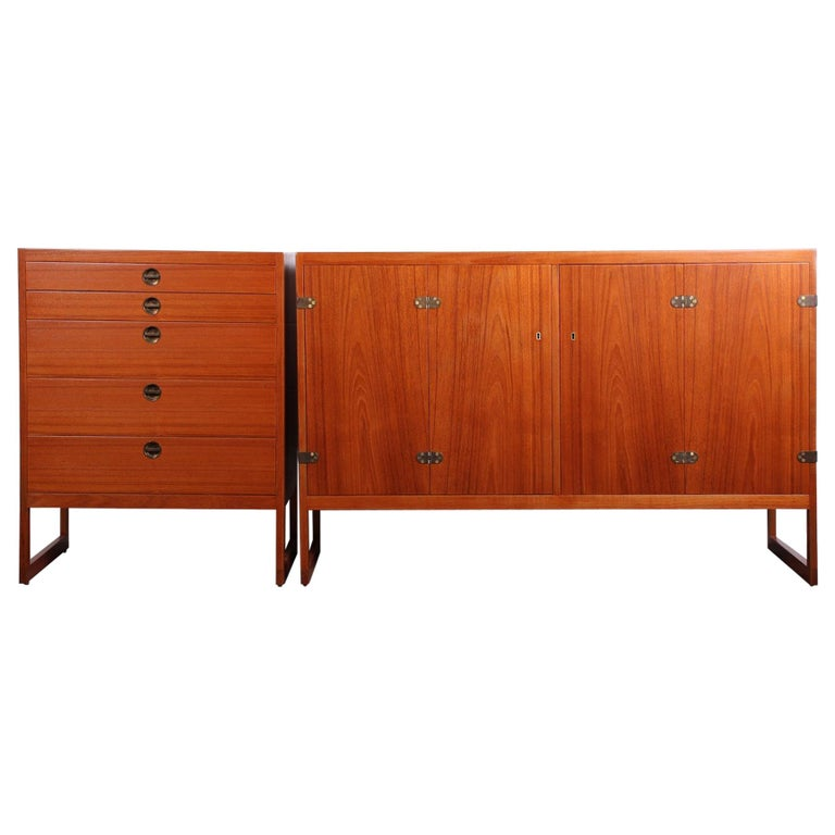 Pair of Cabinets by Børge Mogensen For Sale