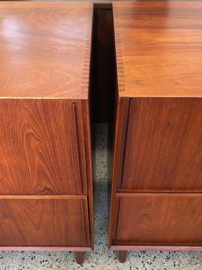 Mid-Century Modern Pair of Cabinets by Hvidt & Mølgaard in Teak For Sale