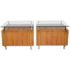Pair of Cabinets or Commodes or End Tables Mid-Century Modern