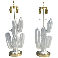 Pair of Cactus Lamps