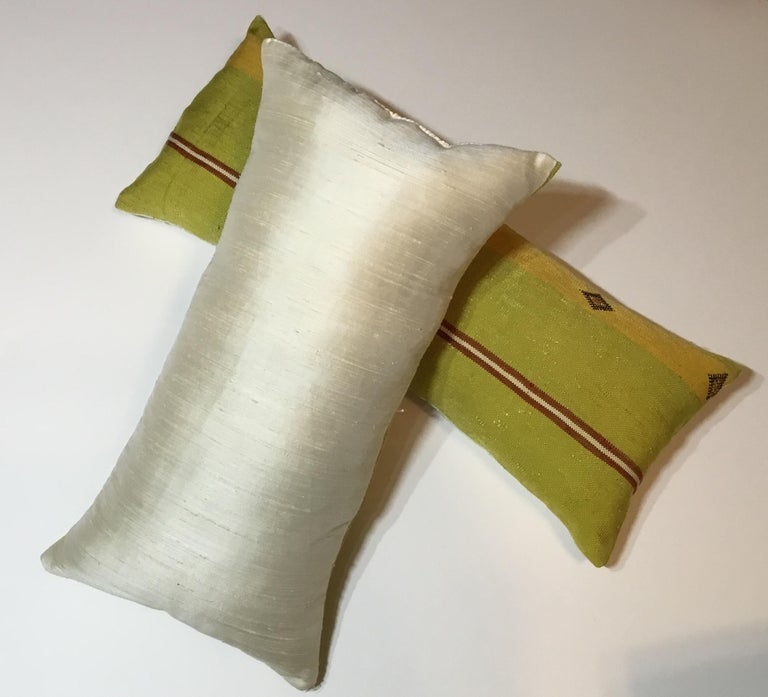 Pair of Cactus Silk Pillows For Sale 5