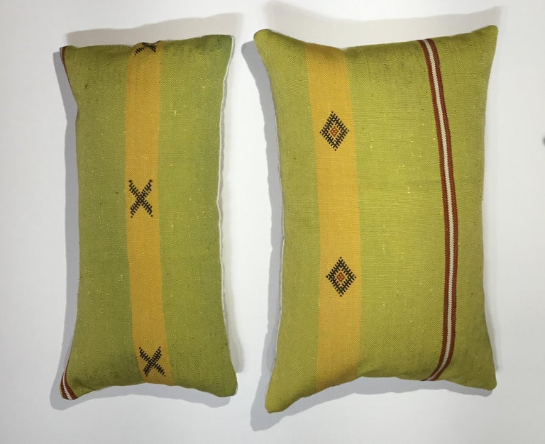 Pair of Cactus Silk Pillows For Sale 4