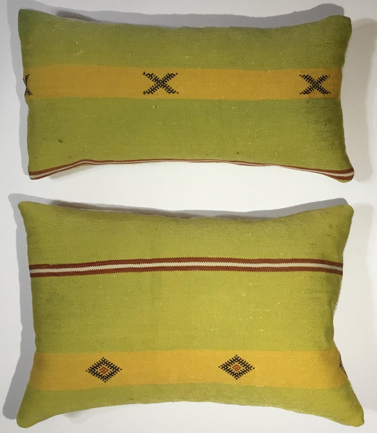 Pair of Cactus Silk Pillows For Sale 6