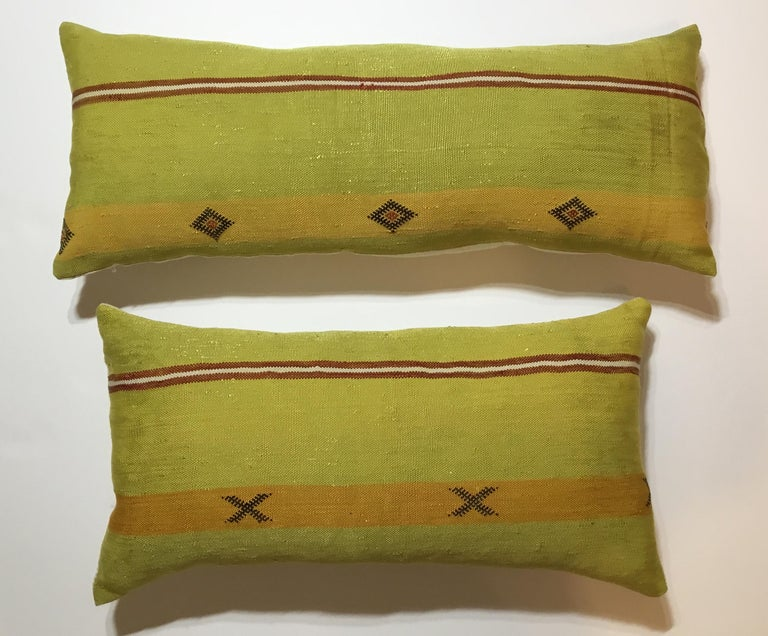 Moroccan Pair of Cactus Silk Pillows For Sale