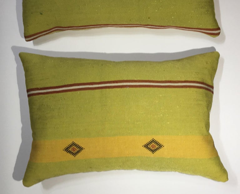 Contemporary Pair of Cactus Silk Pillows For Sale