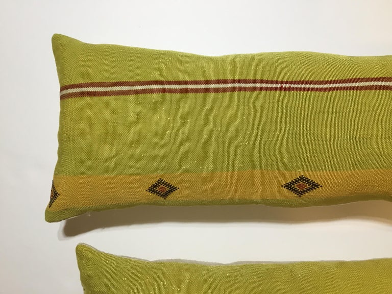 Pair of Cactus Silk Pillows For Sale 2