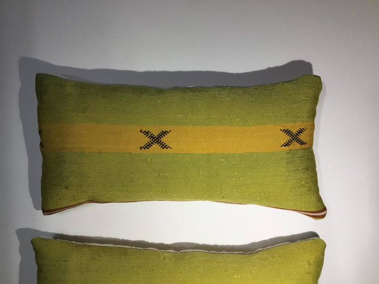 Pair of Cactus Silk Pillows For Sale 1