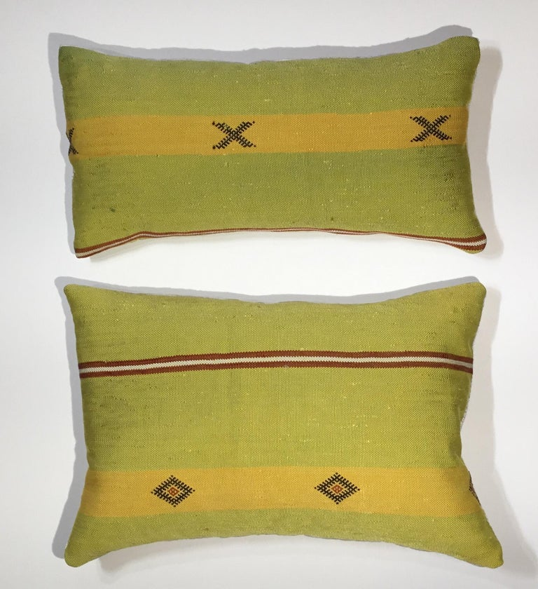 Pair of Cactus Silk Pillows For Sale 3