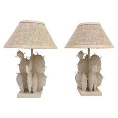Pair of Cactus Table Lamps by Steve Chase